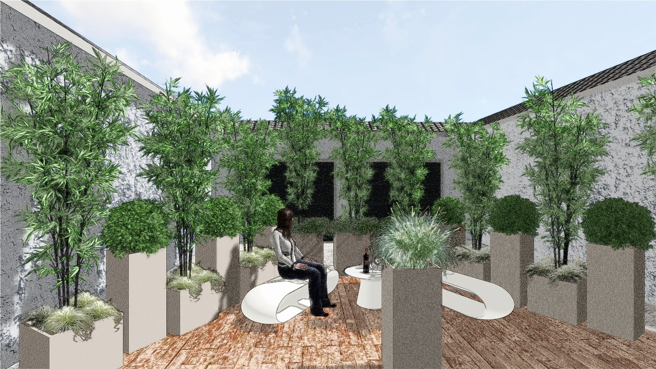 Progettazione giardini e terrazzi milano como varese for Giardini sui terrazzi